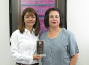 Angela Throneberry and Suzanne Montes, 2014 We C.A.R.E. Recipient